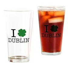 I Shamrock Dublin Drinking Glass