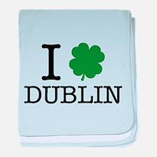 I Shamrock Dublin baby blanket