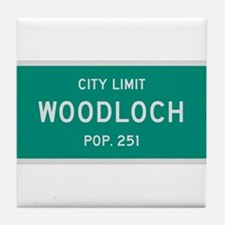 Woodloch, Texas City Limits Tile Coaster