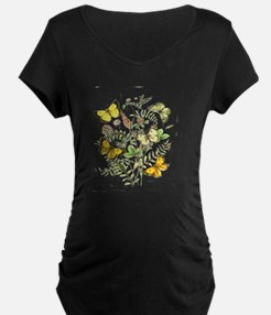 French Butterflies Maternity T-Shirt