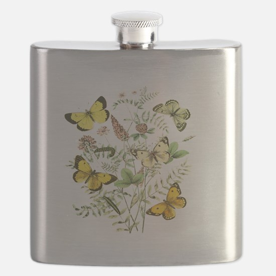 French Butterflies Flask
