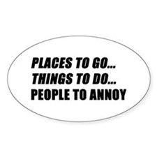 Places to Go Decal