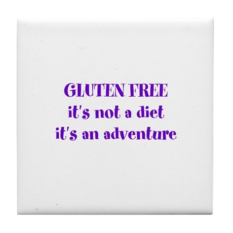 GLUTEN FREE adventure Tile Coaster