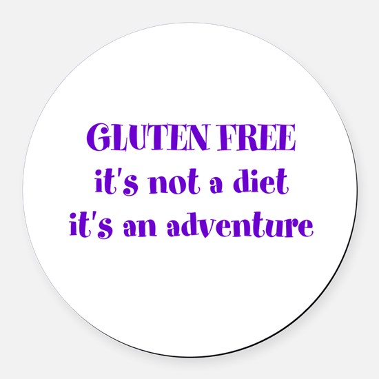 GLUTEN FREE adventure Round Car Magnet