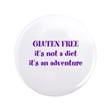 "GLUTEN FREE adventure 3.5"" Button"