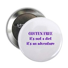 "GLUTEN FREE adventure 2.25"" Button"