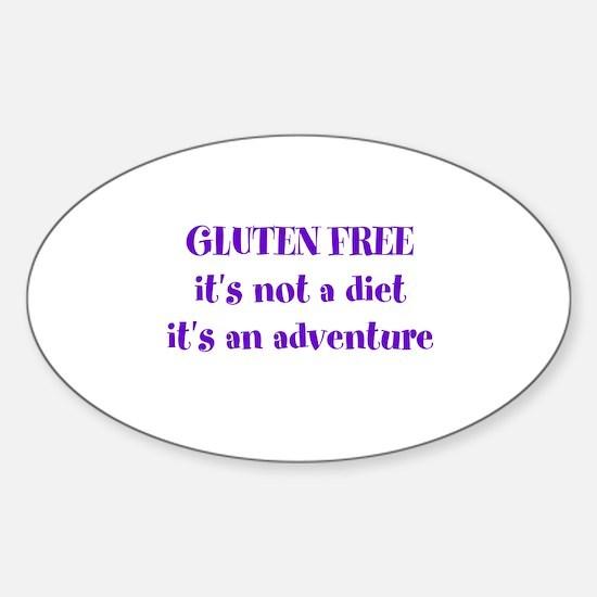 GLUTEN FREE adventure Sticker (Oval)