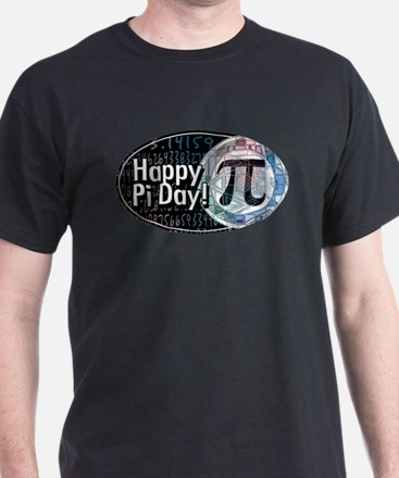 Happy Pi Day Oval T-Shirt