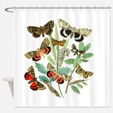 French Butterflies Shower Curtain