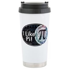 I Like Pi Oval Travel Mug