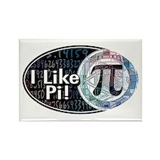 I Like Pi Oval Rectangle Magnet