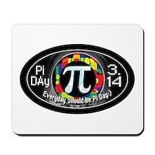Pi Day 3.14 Black Mousepad