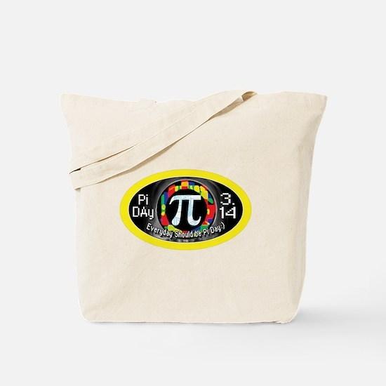Pi Day 3.14 Yellow Ring Tote Bag