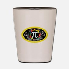 Pi Day 3.14 Yellow Ring Shot Glass