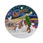 Xmasmagic-Two Cavaliers (BL) Ornament (Round)