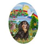 RainbowBridge-Cav-BT-R Ornament (Oval)