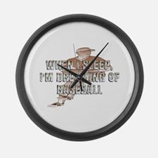 TOP Baseball Dreams Large Wall Clock
