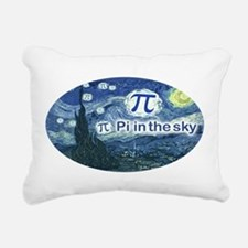 Pi in the Sky Oval Rectangular Canvas Pillow