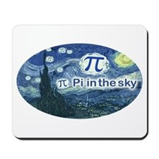 Pi in the Sky Oval Mousepad