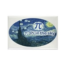 Pi in the Sky Oval Rectangle Magnet (10 pack)