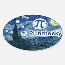 Pi in the Sky Oval Decal