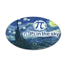 Pi in the Sky Oval Wall Decal