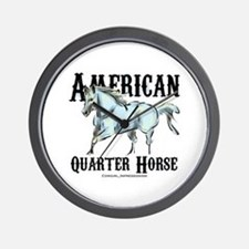 American Quarter Horse Wall Clock