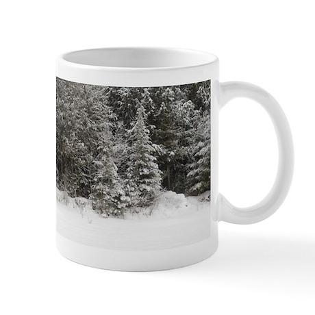 Winter Snow Fir Trees Mug