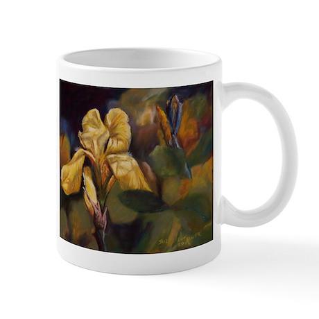 Yellow Iris Flower Mug
