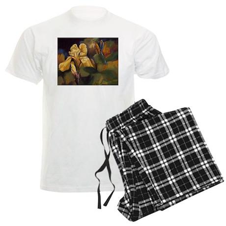 Yellow Iris Flower Men's Light Pajamas