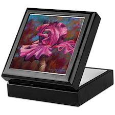Purple Iris Flower Keepsake Box
