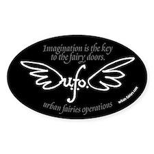 UFO logo 5x3 elipse sticker Decal