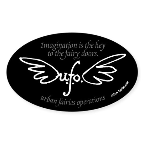 UFO logo 5x3 elipse sticker Sticker