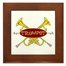Trumpet Tribal Framed Tile