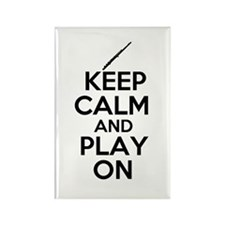 Keep Calm and Play On Flute Rectangle Magnet