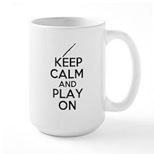 Keep Calm and Play On Flute Mug