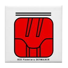 RED Magnetic SKYWALKER Tile Coaster