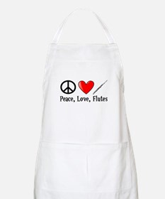 Peace, Love, Flutes Apron
