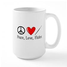 Peace, Love, Flutes Mug