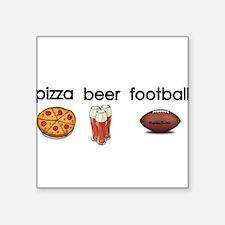 Pizza,Beer,Football Sticker