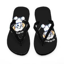 Piebald Havanese IAAM Flip Flops