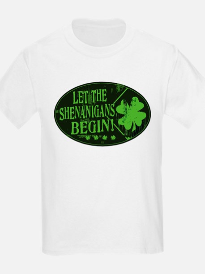 Shenanigans Begin Black Green T-Shirt
