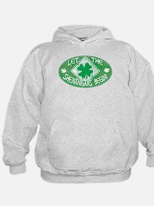Shenanigans Begin Green Hoodie