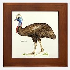 Cassowary Bird Framed Tile
