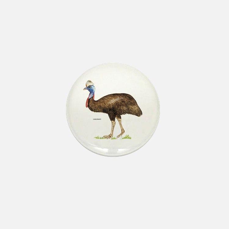 Cassowary Bird Mini Button