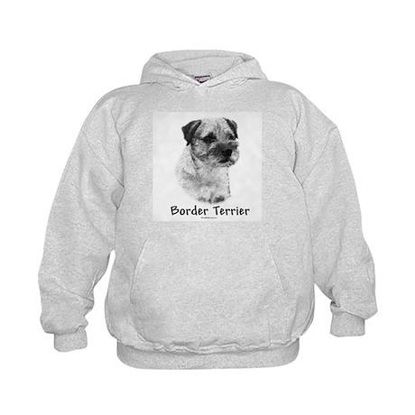 Border Terrier Charcoal Kids Hoodie