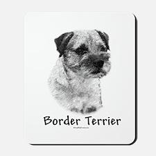 Border Terrier Charcoal Mousepad