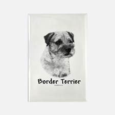 Border Terrier Charcoal Rectangle Magnet