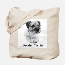 Border Terrier Charcoal Tote Bag