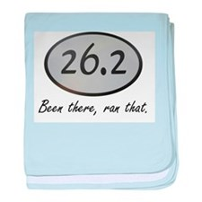 Been There 26.2 baby blanket